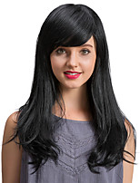 High Quality Charming   Black Long  Human Hair Wigs  For  Women