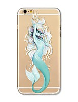 economico -Custodia Per Apple iPhone X iPhone 8 Plus Transparente Fantasia/disegno Per retro Sexy Cartoni animati Animali Morbido TPU per iPhone X