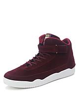 Da uomo Sneakers Comoda Autunno Materiali personalizzati Casual Piatto Nero Rosso Piatto