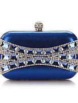 Women Bags All Seasons Polyester Evening Bag Rhinestone Crystal for Wedding Event/Party Formal Gold Black Silver Aquamarine