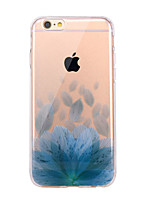 Til iPhone X iPhone 8 Etuier Ultratyndt Transparent Mønster Bagcover Etui Blomst Blødt TPU for Apple iPhone X iPhone 8 Plus iPhone 8