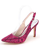 Women's Heels Slingback Leatherette Spring Summer Party & Evening Dress Animal Print Stiletto Heel Light Brown Purple Black White3in-3