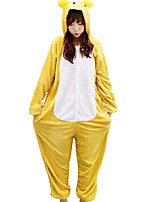 kigurumi Pyjamas Ours Collant Collant/Combinaison Fête / Célébration Pyjamas Animale Halloween Animal Molleton Kigurumi PourCouple