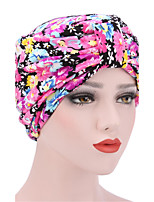 Women's Fashion Floral And Colorful Solid  Floppy Bucket Turban Hat & Cap