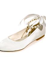 Da donna scarpe da sposa Ballerina Primavera Estate Raso Matrimonio Formale Serata e festa Perle Nastro Piatto Fucsia Rosso Blu Champagne