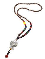 Femme Pendentif de collier Colliers chaînes Col Forme d'Animal Plaqué argent Bois Basique Simple Style Classique Bijoux Pour Mariage