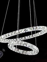Led lampadari a cristallo luci illuminazione interna lampadari a soffitto dimmable con telecomando
