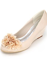 Da donna scarpe da sposa Decolleté Primavera Estate Raso Matrimonio Serata e festa Floreale Zeppa Viola Rosso Blu Champagne Avorio5 - 7