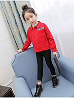 Girls' Print Suit & Blazer,Cotton Polyester Spring Fall Long Sleeve