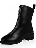 Women's Boots Novelty Fashion Boots Winter Synthetic Microfiber PU Casual Dress Party & Evening Outdoor Office & Career Zipper Flat Heel