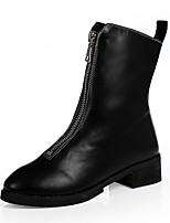 Damen Stiefel Neuheit Modische Stiefel Künstliche Mikrofaser Polyurethan Winter Normal Kleid Party & Festivität ReißverschlussFlacher