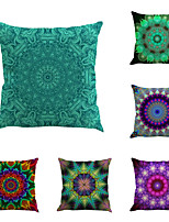 Set Of 6 Bohemia Style Mandragora Flowers Pillow Cover Personality Pillow Case
