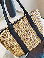 Women Bags All Seasons Straw Tote for Wedding Event/Party Casual Formal Office & Career khaki
