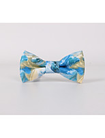 Men's PU / Leather Bow Tie,Fashion Print All Seasons