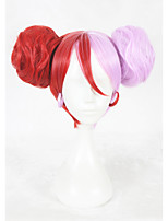 Synthetische Perücken Kappenlos Kurz Glatt Rot Faux Locs Perücke Cosplay Perücke Kostüm Perücken