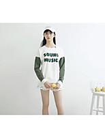 T-shirt Da donna Per uscire Casual Semplice Romantico Moda città Estate Autunno,Con stampe Monocolore Alfabetico Rotonda CotoneManica
