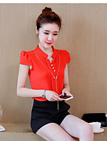 Women's Daily Soak Off Summer Blazer Pant Suits,Solid Round Neck Short Sleeve