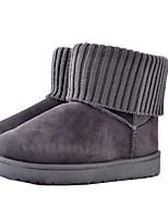 Damen Stiefel Komfort Winter Stoff Normal Flacher Absatz Schwarz Grau Gelb Rosa Flach