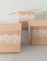 50 Favor Holder-Cubic Card Paper Favor Boxes