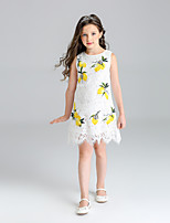 Girl's Patchwork Dress,Polyester Summer Sleeveless