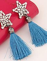 Women's Drop Earrings Rhinestone Tassel Fashion Bohemian Alloy Star Jewelry For Party Casual