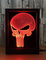 Iy 3D Skull Glowing Touch Sensor Desk 7 Color Changing Lighting Acrylic Led Usbn