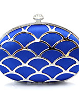 Women Bags All Seasons Metal Evening Bag Rhinestone Chain for Wedding Event/Party Casual Formal Office & Career Blue Gold Silver Red