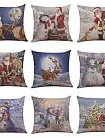 Set of 9 Pop Art PortraitLinen Cushion Cover Home Office Sofa Square Pillow Case Decorative Cushion Covers Pillowcases (18*18)