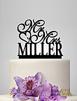 Personalized Acrylic Classic Style Wedding Cake Topper