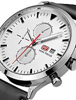 Herrn Sportuhr Modeuhr Armbanduhr Einzigartige kreative Uhr Armbanduhren für den Alltag Quartz Kalender Chronograph Stopuhr Echtes Leder
