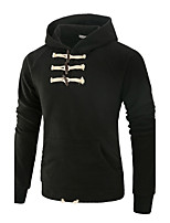Men's Sports Going out Casual/Daily Simple Active Street chic Hoodie Solid Hooded Micro-elastic Polyester Spandex Long SleeveAll Seasons