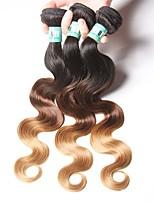 3 Bundles Peruvian Ombre Hair Body Wave Human Hair Weaves 100 Grams Per Bundles Color 1B/4/27