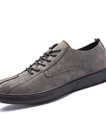 Men's Sneakers Walking Comfort Nappa Leather Fall Winter Casual Office & Career Lace-up Khaki Brown Black Flat