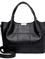 Women Bags All Seasons PU Tote for Wedding Event/Party Casual Formal Office & Career Black Red Gray Purple