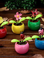 Solar Power Flip Flap Flower  Apple Butterfly Sunflower Rose for Car Swing Dancing Flower Toy Car Interior Ornaments Car-Styling Ramdon Color