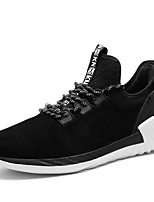 Men's Sneakers Tennis Comfort Suede Fall Winter Athletic Casual Outdoor Gore Flat Heel Gray Black Flat