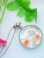 Per donna Collane con ciondolo Rotondo A forma di fiore Lega stile sveglio Fantasia floreale Gioielli Per Matrimonio Feste Compleanno