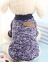 Cat Dog Sweatshirt Dog Clothes Party Casual/Daily Keep Warm Sports Halloween Christmas New Year's Solid Random Color