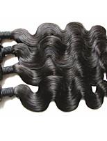 Недорогие -Бразильские волосы Ткет человеческих волос 3 предмета 4 предмета 0.4