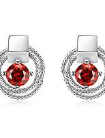 Per donna Orecchini a goccia Zircone cubico Amicizia Gioielli di Lusso Classico Elegant Bling Bling Zirconi Lega Rotondo Di forma