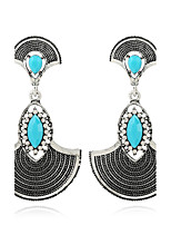 Women's Earrings Set Basic Geometric Metallic Rhinestone Alloy Jewelry For Gift Ceremony Evening Party Club