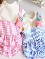 Dog Dress Dog Clothes Party Casual/Daily Birthday Fashion Wedding Halloween Princess Blushing Pink Blue