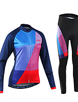 Arsuxeo Cycling Jersey with Tights Women's Bike Clothing Suits Quick Dry Reduces Chafing Spandex Polyester Classic Autumn/Fall Spring