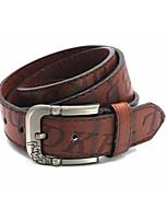 Men's Alloy Waist Belt,Vintage Casual Cowboy Punk Fashion Print
