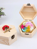 Valentine's Day Gift Everlasting Flowers 7 Colorful Roses Creative Wedding Soap Flower Gift Box