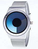 Men's Wrist watch Quartz Stainless Steel Band Casual Silver