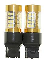 Sencart 2pcs 7440 W21W W3X16D  Flashing Bulb Led Car Tail Turn Reverse Light Bulb Lamps(White/Red/Blue/Warm White) (DC/AC9-16V)