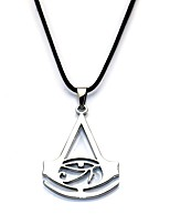 Collier Assassin Cosplay de Film Noir Doré Argent Collier Carnaval Alliage