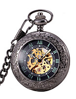 Men's Women's Pocket Watch Automatic self-winding Water Resistant / Water Proof Noctilucent Alloy Band Bronze