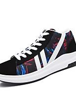 Da uomo Sneaker Comoda Primavera Autunno PU (Poliuretano) Casual Lacci Piatto Grigio Nero/Rosso Black / Blue 5 - 7 cm